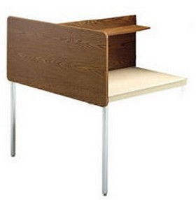 Smith Carrel 01296 Double-Sided Adjustable Height Add-on Carrel (works with 01286)