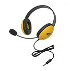 Califone 2800-YLT Listening First Stereo Headsets w/ mic to go 3.5mm plug - Yellow