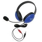 Califone 2800BL-AV Listening First Stereo Headsets w/ Dual 3.5mm plugs - Blue