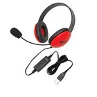 Califone 2800RD-USB Listening First Stereo Headset w/mic - Red