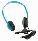Califone 3060AV-BL Multimedia Stereo Headphones with 3.5mm plug and inline volume control - blueberry