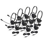 Califone 3065AVT-10L Lightweight Personal Multimedia Stereo Headset 10 pack without case and To Go 3.5mm plug