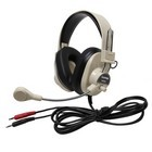 Califone 3066AV Deluxe Multimedia Stereo Headsets with mic and dual 3.5mm plugs