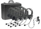 Califone 4100-10 Stero Headset with mic 10 pack with case USB plug