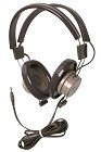 Califone 610-44S Binaural Headphones 3.5mm stereo plug and non-replaceable cord