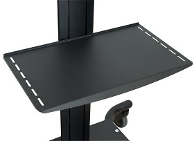 Peerless ACC-MS Metal Shelf for SmartMount Carts and Stands - black