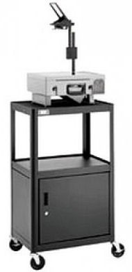 Dalite AV2C-42J PixMobile fully Arc-Welded Cart with Metal Cabinet 18x24 Shelf with 3 Outlet Electric
