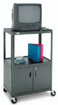 Dalite AV5C-54J PixMobile fully Arc-Welded Cart with Metal Cabinet 25x30 Shelf with 3 Outlet Electric