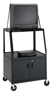 Dalite AV6CM-54J PixMobile fully Arc-Welded Cart with Metal Cabinet 25x30 Shelf with 3 Outlet Electric