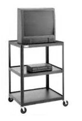 Dalite AV6-54J PixMobile fully Arc-Welded Cart 25x30 Shelf with 3 Outlet Electric