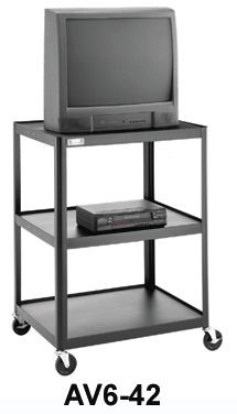 Dalite AV6-48 PixMobile fully Arc-Welded Cart 25x30 Shelf with 3 Outlet Electric