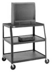 Dalite AV8-41 PixMobile fully Arc-Welded Cart with Wide Base 24x38 Shelf with 3 Outlet Electric