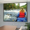 Draper 104225Q Access Series E 10 foot Diagonal Video Format ClearSound White Weave XT900E Surface with Quiet Motor
