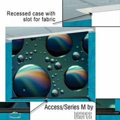 Draper 203041 Access Series M Manual, 6 Foot Video Format Glass Beaded CH3200E Surface
