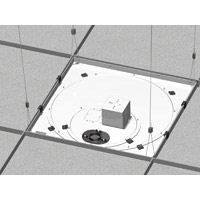 Chief CMS445P Suspended Ceiling Replacement Kit with Power Outlet Conditioner