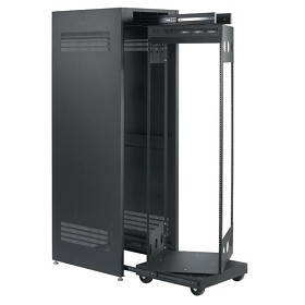 Raxxess CPROTR-42 Captive ROTR Rack 42 Spaces Free Standing Pull-out and Rotating Rack System Mounted in a Metal Enclosure