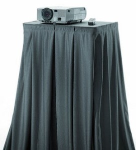 DaliteDrapery Kit 112 inch W X 50 inch H Skirt - Black for AV6-54 and PM6-54