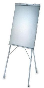 DaLite 43114 A502-Gray Powder Coat Paper Pad Easel