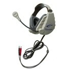 Califone DS-4V Discovery Headset 3.5mm stereo headphone plug, 3.5mm mono dynamic mic plug , replaceable 6' cord