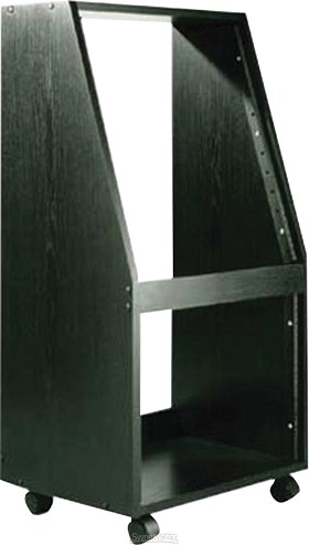 Raxxess ER-12\8 Slanted Economy Rack 12 Space Vertical 6 Space Horizontal Black