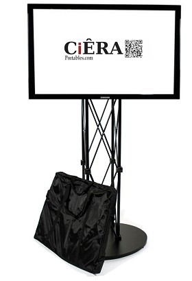 CiERA EZ Fold Portable TV Stand for 28-70 Inch TV's - Black