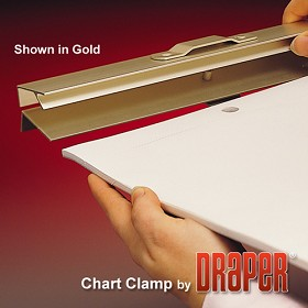 Draper CC-30 - Chart Clamp Gold Anodized