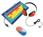 Califone KIDSPACK Kids Computer Peripheral Package - Keyboard, Headphone and mouse