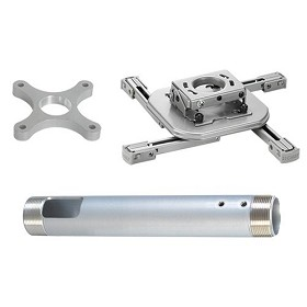 Chief KITAF003S Kit Includes RSAUS, CMS003S 3 Inch Extension, CMA101S Ceiling Plate - Silver