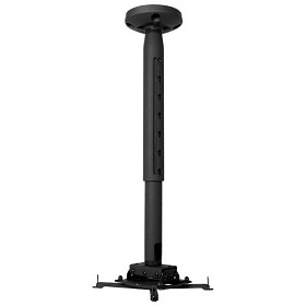 Chief KITPD0203 Kit Includes: RPAU, CMS0203 2-3 foot Adjustable Extension and CMS115 Ceiling Plate - Black