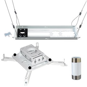 Chief KITPS003W Kit Includes: RPAUW, CMS003W 3 Inch Extension Column, CMS440 Suspended Ceiling Plate - White