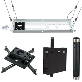 Chief KITPS012C Kit Includes: RPAU, CMS012 12 Inch Extension Column, CMS440 Suspended Ceiling Plate, CMA170 In Ceiling CPU Storage Case - Black
