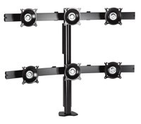 Chief KTC330B Flat Panel Six Monitor Desk Clamp Mount - Black