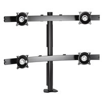Chief KTC445S Widescreen Quad Monitor Desk Clamp Mount - Silver