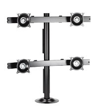 Chief KTG440B Flat Panel Quad Monitor Grommet Mount - Black