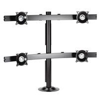Chief KTG445B Widescreen Quad Monitor Grommet Mount - Black