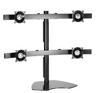 Chief KTP445S Widescreen Quad Monitor Table Stand - Silver