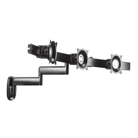 Chief KWD320B Dual Arm Wall Mount Triple Monitor for Monitors 10-18 Inch - Black