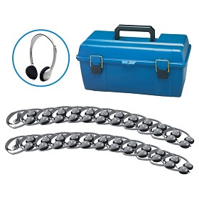 Hamilton Electronics LCP/24/HA2 Lab Pack, 24 HA2 Personal Headphones in a Carry Case