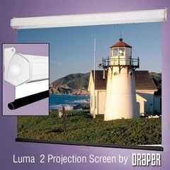 Draper 206014 Luma 2 Manual, 10 Foot Video Format Matt White XT1000E Surface