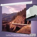 Draper 207028 Luma Manual, 108 in. Wide Screen Format Glass Beaded CH3200E Surface