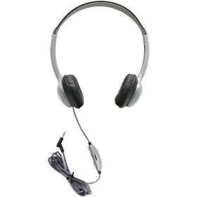 Hamilton Electronics MS2LV SchoolMate Personal Mono/Stereo Headphone with in-line Volume, Leatherette