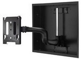 Chief MWRIW6000B Series In-Wall Swing Arm Mount for use with a custom interface Bracket up to 50 in. or 125lbs. - Black