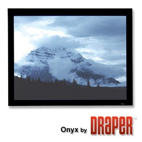 Draper 253355 Onyx Fixed, 7 Foot Video Format ClearSound White Weave XT900E Surface