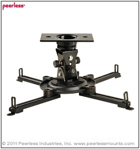 Peerless PAG-UNV Arakno Geared Projector Mount for projectors up to 50 lb(22 Kg)