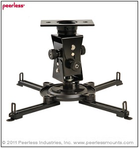 Peerless PAG-UNV-HD Arakno Heavy Duty Geared Projector Mount For Projectors up to 125 lb (56 kg)