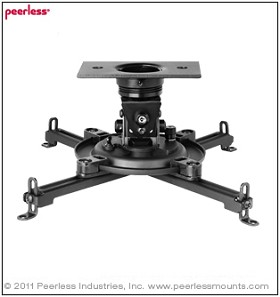 Peerless PAG-UNV-MU Arakno Geared Micro Projector Mount For Projectors up to 25lb (11.3kg)
