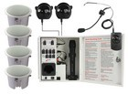 Califone PAIRSYSBCS Infrared Classroom Audio System  w/ four CS308 Ceiling Speakers