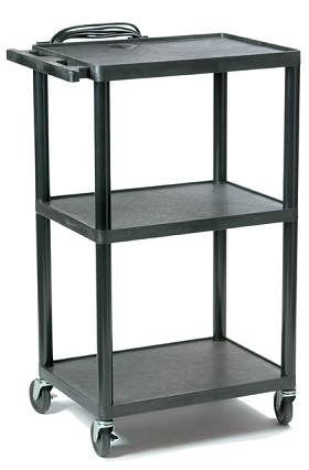 Buhl PC1642E Plastic AV Cart Adjustable from 16 inch to 42 inch