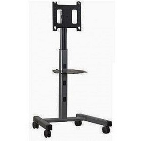Chief PFC2000B Mobile Height Adjustable Flat Panel Display Floor Stand for use with Custom Interface Bracket (not included) - Black