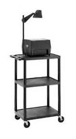 Dalite PL2-24 PixMate Plastic Cart 18x24 Shelf with 3 Outlet Electric